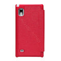 Nillkin England Retro Leather Cases Holster Covers for LG F160L Optimus LTE II 2 - Red (High transparent screen protector)