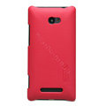 Nillkin Super Matte Hard Cases Skin Covers for HTC 8X - Red (High transparent screen protector)