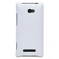 Nillkin Super Matte Hard Cases Skin Covers for HTC 8X - White (High transparent screen protector)