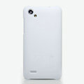 Nillkin Super Matte Hard Cases Skin Covers for HTC T528d One SC - White (High transparent screen protector)