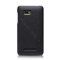 Nillkin Super Matte Hard Cases Skin Covers for HTC T528w One SU - Black (High transparent screen protector)
