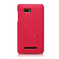 Nillkin Super Matte Hard Cases Skin Covers for HTC T528w One SU - Red (High transparent screen protector)