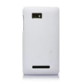 Nillkin Super Matte Hard Cases Skin Covers for HTC T528w One SU - White (High transparent screen protector)