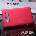 Nillkin Super Matte Hard Cases Skin Covers for Nokia Lumia 820 - Red (High transparent screen protector)