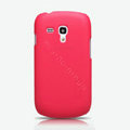 Nillkin Super Matte Hard Cases Skin Covers for Samsung I8190 GALAXY SIII Mini - Red (High transparent screen protector)