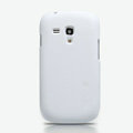 Nillkin Super Matte Hard Cases Skin Covers for Samsung I8190 GALAXY SIII Mini - White (High transparent screen protector)