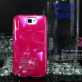 Nillkin Three-dimensional Hard Cases Skin Covers for Samsung N7100 GALAXY Note2 - Red (High transparent screen protector)