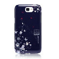 Nillkin flower Hard Cases Skin Covers for Samsung N7100 GALAXY Note2 - Blue (High transparent screen protector)