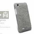 Nillkin leather Cases Holster Covers Skin for HTC T528d One SC - Gray (High transparent screen protector)