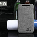 Nillkin leather Cases Holster Covers Skin for HTC T528w One SU - Gray (High transparent screen protector)