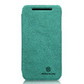 Nillkin leather Cases Holster Covers Skin for HTC T528w One SU - Green (High transparent screen protector)