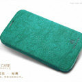 Nillkin leather Cases Holster Covers Skin for Samsung N7100 GALAXY Note2 - Green (High transparent screen protector)