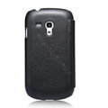 Nillkin leather Cases Holster Covers for Samsung I8190 GALAXY SIII Mini - Black (High transparent screen protector)