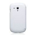 Nillkin leather Cases Holster Covers for Samsung I8190 GALAXY SIII Mini - White (High transparent screen protector)