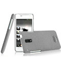 IMAK Cowboy Shell Quicksand Hard Cases Covers for HTC J Z321e - Gray (High transparent screen protector)