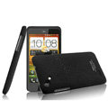 IMAK Cowboy Shell Quicksand Hard Cases Covers for HTC T528d One SC - Black (High transparent screen protector)