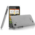 IMAK Cowboy Shell Quicksand Hard Cases Covers for HTC T528d One SC - Gray (High transparent screen protector)