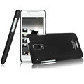 IMAK Ultrathin Matte Color Covers Hard Cases for HTC J Z321e - Black (High transparent screen protector)