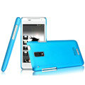 IMAK Ultrathin Matte Color Covers Hard Cases for HTC J Z321e - Blue (High transparent screen protector)