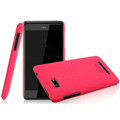 IMAK Ultrathin Matte Color Covers Hard Cases for HTC T528w One SU - Rose (High transparent screen protector)