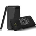 IMAK Ultrathin Tiger Color Covers Hard Cases for HTC T528w One SU - Black (High transparent screen protector)