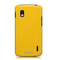 Nillkin Colourful Hard Cases Skin Covers for LG E960 Nexus 4 - Yellow (High transparent screen protector)