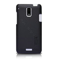 Nillkin Super Matte Hard Cases Skin Covers for HTC J Z321e - Black (High transparent screen protector)