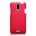Nillkin Super Matte Hard Cases Skin Covers for HTC J Z321e - Red (High transparent screen protector)