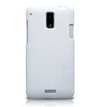 Nillkin Super Matte Hard Cases Skin Covers for HTC J Z321e - White (High transparent screen protector)