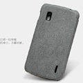 Nillkin leather Cases Holster Covers Skin for LG E960 Nexus 4 - Gray (High transparent screen protector)