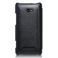 Nillkin leather Cases Holster Covers for HTC 8X - Black (High transparent screen protector)