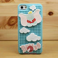 3D Elephant Cover Disney DIY Silicone Cases Skin for iPhone 5 - Blue
