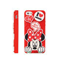 3D Minnie Mouse Cover Disney DIY Silicone Cases Skin for iPhone 5 - Red