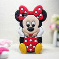 3D Minnie Mouse Silicone Cases Skin Covers for iPhone 5 - Red