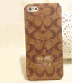 Coach Painting Hard Cases matte Cover Skin for iPhone 5 - Brown