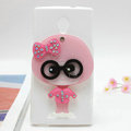 Cute girl Silicone Cases Mirror Covers Skin for OPPO U705T Ulike2 - White