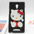 Hello kitty Silicone Cases Mirror Covers Skin for OPPO U705T Ulike2 - Black