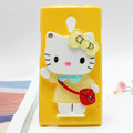 Hello kitty Silicone Cases Mirror Covers Skin for OPPO U705T Ulike2 - Yellow