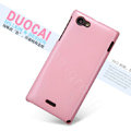 Nillkin Colourful Hard Cases Skin Covers for Sony Ericsson ST26i Xperia J - Pink (High transparent screen protector)