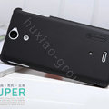 Nillkin Super Matte Hard Cases Covers for Sony Ericsson LT25i Xperia V - Black (High transparent screen protector)