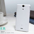 Nillkin Super Matte Hard Cases Covers for Sony Ericsson LT25i Xperia V - White (High transparent screen protector)