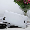 Nillkin Super Matte Hard Cases Covers for Sony Ericsson ST26i Xperia J - White (High transparent screen protector)