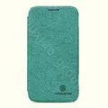 Nillkin leather Cases Holster Covers Skin for Samsung I8750 ATIV S - Green (High transparent screen protector)