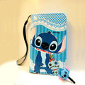 Stitch Side Flip leather Case Holster Cover Skin for iPhone 5 - Blue