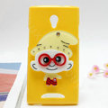 The Smurfs Silicone Cases Mirror Covers Skin for OPPO U705T Ulike2 - Yellow