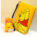 Winnie the Pooh Side Flip leather Case Holster Cover Skin for iPhone 5 - Yellow