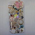 Bling Swarovski crystal cases Flower diamond cover for iPhone 5 - Pink