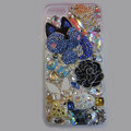 Bling Swarovski crystal cases Flower diamond cover for iPhone 5 - White