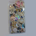 Bling Swarovski crystal cases Flower diamond covers for iPhone 5 - Pink