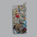 Bling Swarovski crystal cases Panda diamond cover for iPhone 5 - Gold